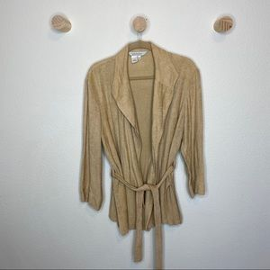 Isabella Bird textured tan light coat